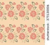 floral seamless pattern. vector ...   Shutterstock .eps vector #375130006