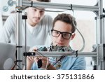 young engineer in the lab... | Shutterstock . vector #375131866
