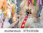 colorful face of kurent ... | Shutterstock . vector #375133186