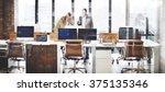 business team busy working... | Shutterstock . vector #375135346