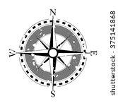 compass navigation dial  ... | Shutterstock .eps vector #375141868