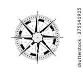 compass navigation dial  ... | Shutterstock .eps vector #375141925