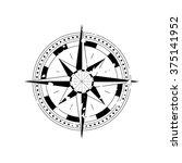 compass navigation dial  ... | Shutterstock .eps vector #375141952