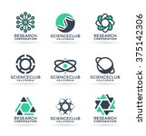 set of various science symbols... | Shutterstock .eps vector #375142306