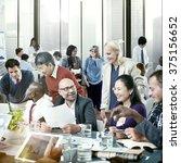 business people office working... | Shutterstock . vector #375156652