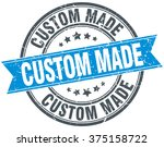 custom made blue round grunge... | Shutterstock .eps vector #375158722