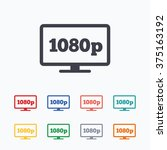 full hd widescreen tv sign icon....   Shutterstock .eps vector #375163192