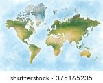 illustration world map and the... | Shutterstock . vector #375165235