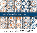 set of mexican stylized...   Shutterstock .eps vector #375166225