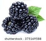 Three Blackberries On The Whit...