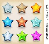 funny stars icons for game ui ...