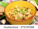 vegetable ragout with meat | Shutterstock . vector #375199588
