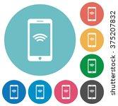 flat wireless phone icon set on ...