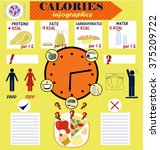 info graphic calories of... | Shutterstock .eps vector #375209722
