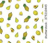 fruit pattern | Shutterstock .eps vector #375210445