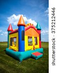 children's bouncy house castle... | Shutterstock . vector #375212446
