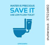 water is precious save it use... | Shutterstock .eps vector #375216802