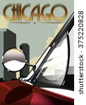 Chicago Vintage Travel Poster...