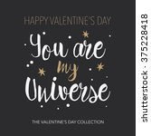 you are my universe   romantic... | Shutterstock .eps vector #375228418