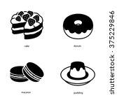 dessert vector icons | Shutterstock .eps vector #375229846