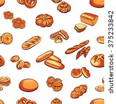 seamless pattern made from hand ... | Shutterstock .eps vector #375233842