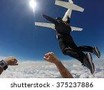 Man Jump Of Plane  Skydiving...