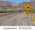 Donkeys Crossing Sign