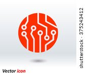 circuit board  icon. technology ... | Shutterstock .eps vector #375243412
