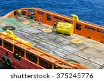 anchor buoy on deck anchor tug... | Shutterstock . vector #375245776