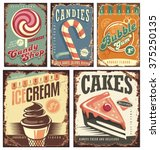 vintage candy shop collection... | Shutterstock .eps vector #375250135