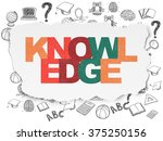 learning concept  knowledge on... | Shutterstock . vector #375250156