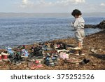 lesvos  greece   october 12 ... | Shutterstock . vector #375252526