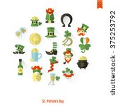saint patricks day isolated... | Shutterstock . vector #375253792
