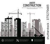 under construction design  | Shutterstock .eps vector #375270685