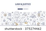 law and justice design concept... | Shutterstock .eps vector #375274462