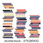 bookshelves with books. vector...