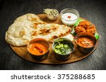 Indian Dish Curry Lunch Set