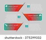 vector infographic banners with ... | Shutterstock .eps vector #375299332