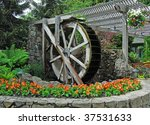 Vintage Watermill In Historic...
