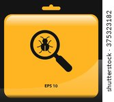 bug find icon. magnifier vector ... | Shutterstock .eps vector #375323182