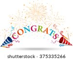 congratulations celebration... | Shutterstock .eps vector #375335266