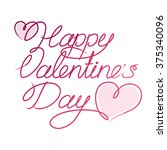 happy valentine's day | Shutterstock .eps vector #375340096