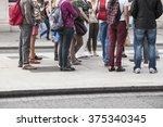 people on the pavement | Shutterstock . vector #375340345