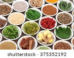 herb  spice and super food... | Shutterstock . vector #375352192