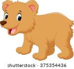 cute baby bear cartoon | Shutterstock .eps vector #375354436