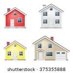 house icons set | Shutterstock .eps vector #375355888