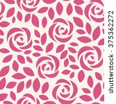 seamless pattern with roses   Shutterstock .eps vector #375362272