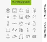 line happy saint patrick day... | Shutterstock .eps vector #375382696