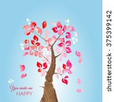 valentine's day card with love... | Shutterstock .eps vector #375399142