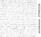 handwriting letter. seamless... | Shutterstock .eps vector #375401236